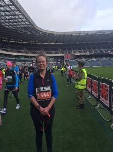Me! On the MUrrayfield pitch!