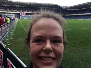 Me at Murrayfield finish line.