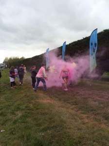 Pelted by pink
