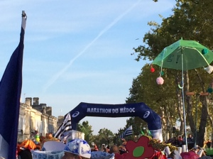 The start line at the Marathon du Medoc