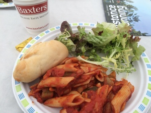 Pasta party the day before the race...mmm Baxters.