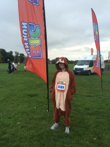 Me in full monkey glory pre-race.